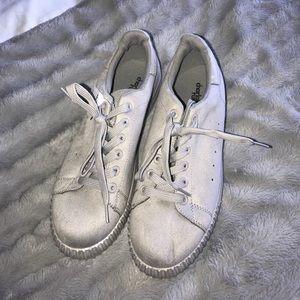 All Grey velvet sneakers!
